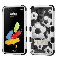 Military Grade Certified TUFF Image Hybrid Armor Case with Stand for LG G Stylo 2 / Stylus 2 - Soccer Ball