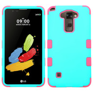 Military Grade Certified TUFF Hybrid Armor Case for LG G Stylo 2 / Stylus 2 - Teal Hot Pink