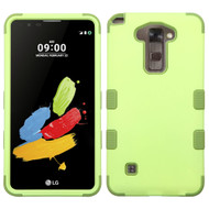 Military Grade Certified TUFF Hybrid Armor Case for LG G Stylo 2 / Stylus 2 - Green Tea Olive