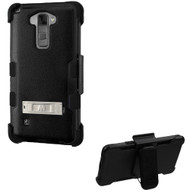 Military Grade Certified TUFF Hybrid Kickstand Case with Holster for LG G Stylo 2 / Stylus 2 - Black
