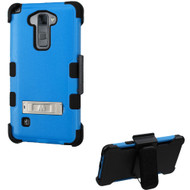 Military Grade Certified TUFF Hybrid Kickstand Case with Holster for LG G Stylo 2 / Stylus 2 - Blue