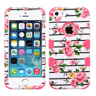 Military Grade TUFF Image Hybrid Case for iPhone SE / 5S / 5 - Fresh Roses