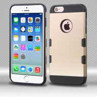 Military Grade Certified TUFF Trooper Dual Layer Hybrid Case for iPhone 6 / 6S - Gold