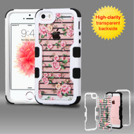 TUFF Vivid Graphic Hybrid Armor Case for iPhone SE / 5S / 5 - Fresh Roses