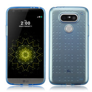Perforated Transparent Cushion Gelli Case for LG G5 - Blue