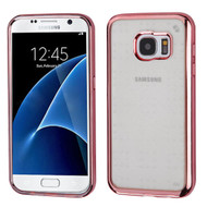SPOTS Electroplated Premium Candy Skin Cover for Samsung Galaxy S7 - Rose Gold 002