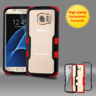 TUFF Vivid Hybrid Armor Case for Samsung Galaxy S7 Edge - Black Red