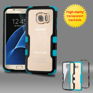 TUFF Vivid Hybrid Armor Case for Samsung Galaxy S7 Edge - Black Teal