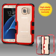 TUFF Vivid Hybrid Armor Case for Samsung Galaxy S7 Edge - Red