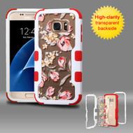 TUFF Vivid Graphic Hybrid Armor Case for Samsung Galaxy S7 - Painted Flowers