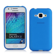 Rubberized Crystal Case for Samsung Galaxy Amp 2 / Express 3 / J1 (2016) - Blue