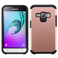 Hybrid Multi-Layer Armor Case for Samsung Galaxy Amp 2 / Express 3 / J1 (2016) - Rose Gold