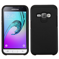 *Sale* Hybrid Multi-Layer Armor Case for Samsung Galaxy Amp 2 / Express 3 / J1 (2016) - Black