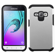 Hybrid Multi-Layer Armor Case for Samsung Galaxy Amp 2 / Express 3 / J1 (2016) - Silver