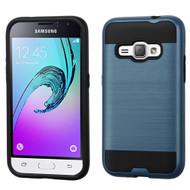 *SALE* Brushed Hybrid Armor Case for Samsung Galaxy Amp 2 / Express 3 / J1 (2016) - Ink Blue