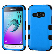 Military Grade Certified TUFF Hybrid Armor Case for Samsung Galaxy Amp 2 / Express 3 / J1 (2016) - Blue