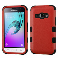Military Grade TUFF Hybrid Armor Case for Samsung Galaxy Amp 2 / Express 3 / J1 (2016) - Red