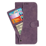 *SALE* Premium Leather Wallet Case with Slide Out Card Holder for LG G Stylo 2 / Stylus 2 - Purple