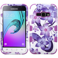 Military Grade TUFF Image Hybrid Armor Case for Samsung Galaxy Amp 2 / Express 3 / J1 (2016) - Hibiscus