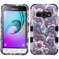 Military Grade TUFF Image Hybrid Armor Case for Samsung Galaxy Amp 2 / Express 3 / J1 (2016) - Persian Paisley