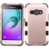 Military Grade TUFF Hybrid Armor Case for Samsung Galaxy Amp 2 / Express 3 / J1 (2016) - Rose Gold