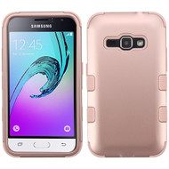 *SALE* Military Grade TUFF Hybrid Armor Case for Samsung Galaxy Amp 2 / Express 3 / J1 (2016) - Rose Gold 086