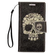 *SALE* Executive Graphic Leather Wallet Case for iPhone SE / 5S / 5 - Skull