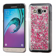 Desire Bling Bling Crystal Cover for Samsung Galaxy Amp Prime / Express Prime / J3 / Sol - Rhinestones Hot Pink