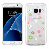 Premium Perforated Transparent Cushion Gelli Case for Samsung Galaxy S7 - Tiny Blossoms