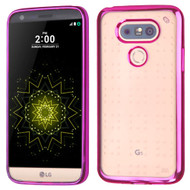 SPOTS Electroplated Premium Candy Skin Cover for LG G5 - Hot Pink
