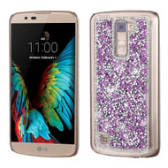 Desire Bling Bling Crystal Cover for LG K10 / Premier LTE - Rhinestones Purple