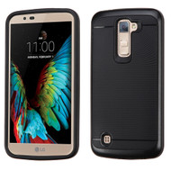Bumper Frame Hybrid Case for LG K10 / Premier LTE - Black