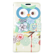 *SALE* Executive Graphic Leather Wallet Case for LG K10 / Premier LTE - Owl
