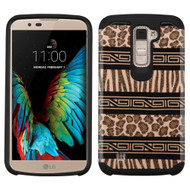 Hybrid Multi-Layer Armor Case for LG K10 / Premier LTE - Leopard Zebra