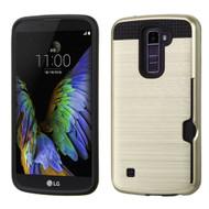 *Sale* Card To Go Hybrid Case for LG K10 / Premier LTE - Gold