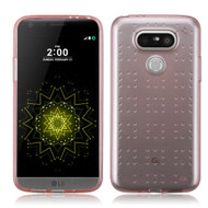 Perforated Transparent Cushion Gelli Case for LG G5 - Rose Gold