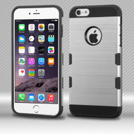 Military Grade TUFF Trooper Dual Layer Hybrid Case for iPhone 6 Plus / 6S Plus - Brushed Silver