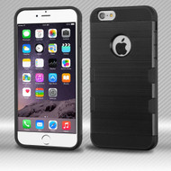 *SALE* Military Grade TUFF Trooper Dual Layer Hybrid Case for iPhone 6 Plus / 6S Plus - Brushed Black