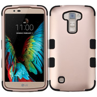 Military Grade Certified TUFF Hybrid Armor Case for LG K10 / Premier LTE - Rose Gold