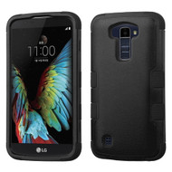 Military Grade Certified TUFF Hybrid Armor Case for LG K10 / Premier LTE - Black