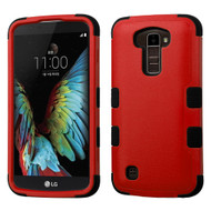 Military Grade Certified TUFF Hybrid Armor Case for LG K10 / Premier LTE - Red