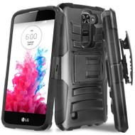 *SALE* Advanced Armor Hybrid Kickstand Case with Holster for LG K10 / Premier LTE - Black