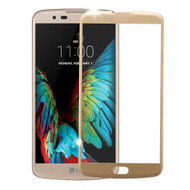 Curved Coverage Premium Tempered Glass Screen Protector for LG K10 / Premier LTE - Gold