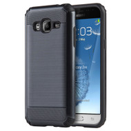 *SALE* Silkee Anti Shock Hybrid Armor Case for Samsung Galaxy Amp Prime / Express Prime / J3 / Sol - Black