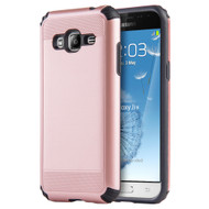 Silkee Anti Shock Hybrid Armor Case for Samsung Galaxy Amp Prime / Express Prime / J3 / Sol - Rose Gold