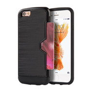 Card Away Silk Dual Hybrid Case for iPhone 6 Plus / 6S Plus - Black