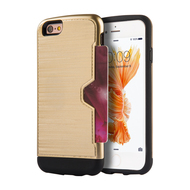 Card Away Silk Dual Hybrid Case for iPhone 6 Plus / 6S Plus - Gold