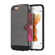 Card Away Silk Dual Hybrid Case for iPhone 6 Plus / 6S Plus - Grey