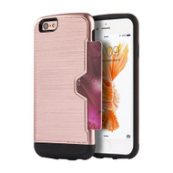 Card Away Silk Dual Hybrid Case for iPhone 6 Plus / 6S Plus - Rose Gold