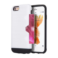 Card Away Silk Dual Hybrid Case for iPhone 6 Plus / 6S Plus - White